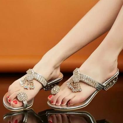2017 Fashion Sexy Crystal Ring Toe ..