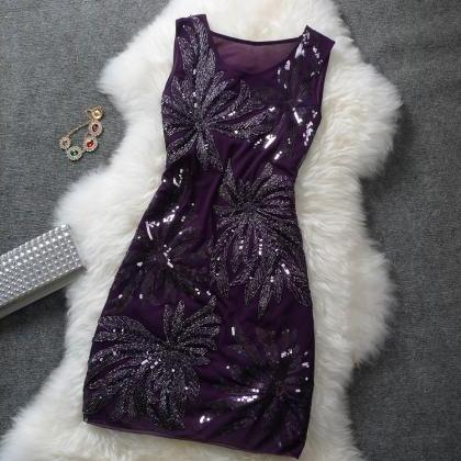 Retro sequined dress ADADBE