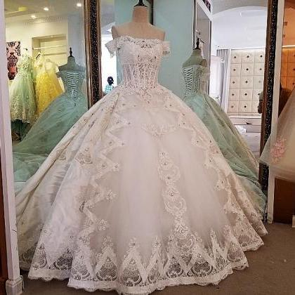 ivory bridal gown lace beading off..