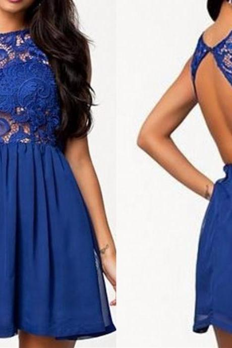 Homecoming Dresses,Short Prom Dresses,Homecoming Dresses,lace Homecoming Dress,Pretty Party Dresses,Cute royal blue Dresses