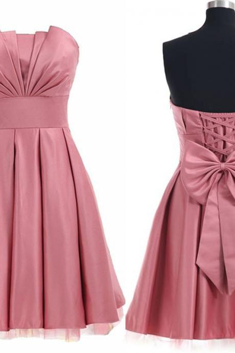 Charming Homecoming Dress,Satin Homecoming Dress,Lace-Up Homecoming Dress,Noble Homecoming Dress,