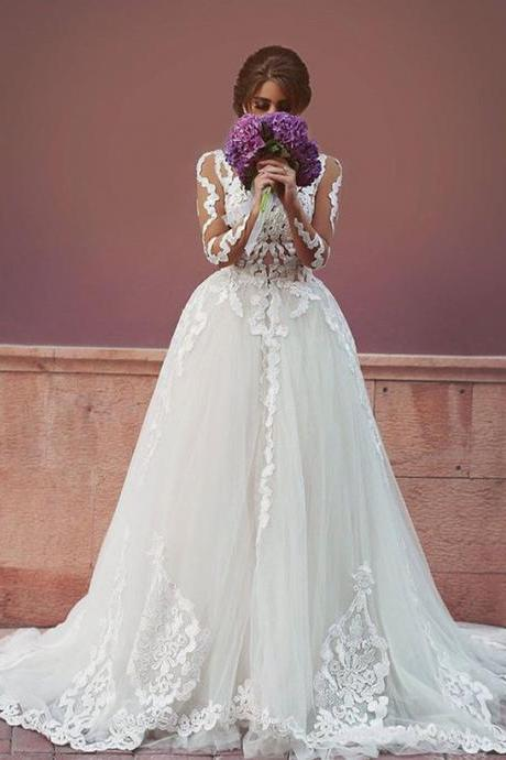 Princess Vintage Vestido De Noiva Bridal Dresses Ball Gown Lace Wedding Dresses