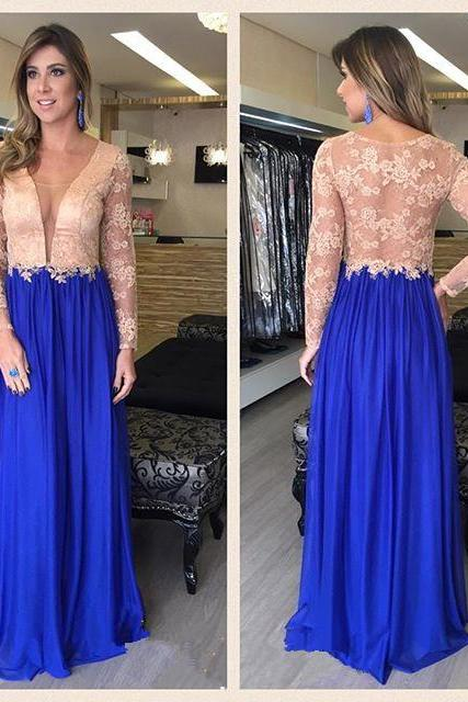 Lace Prom Dress,Long Sleeve Prom Dress,Fashion Prom Dress,Sexy Party Dress, New Style Evening Dress