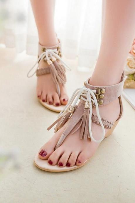 New arrival High-quality Summer Women Wedge sandals Sexy Elegant Fashion Beige Brown Black shoes Fashion
