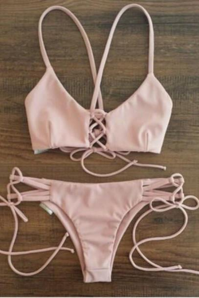 Bikini Split Bandage Swimsuit