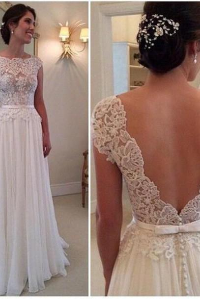 Cheap wedding dresses 2017,Custom Made A Line Backless Lace Wedding Dresses, Dresses For Wedding , Wedding Gowns, Prom Dresses, Formal Dresses, Beach Wedding Dress