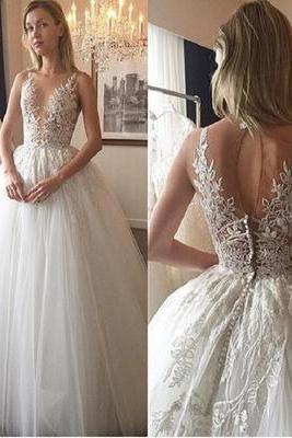 Cheap wedding dresses 2017,Charming Wedding Dress,Lace Wedding Dresses,Tulle Wedding Dress, Wedding Gown, Bridal Dress
