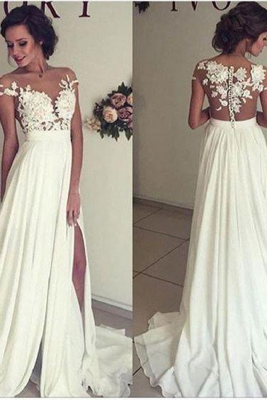 Cheap wedding dresses 2017,A-line Off the Shoulder See-through Sleeveless Beaded Lace Appliqued Bodice Mini length Beach Wedding Dress
