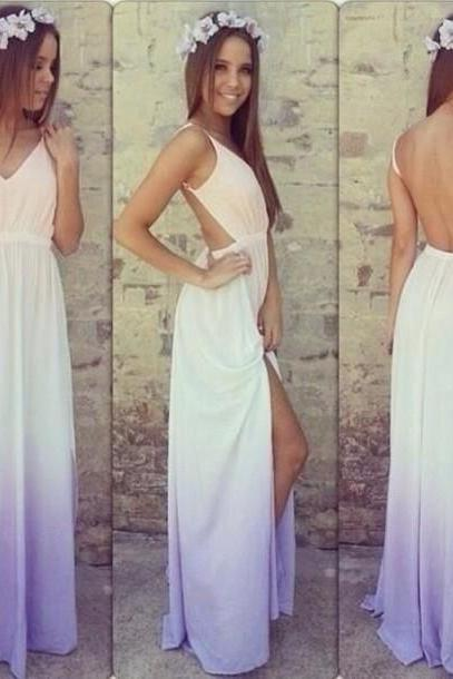 Backless condole v-neck dress