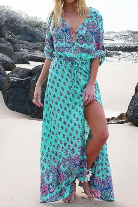 Gorgeous Printed Boho Maxi Dress