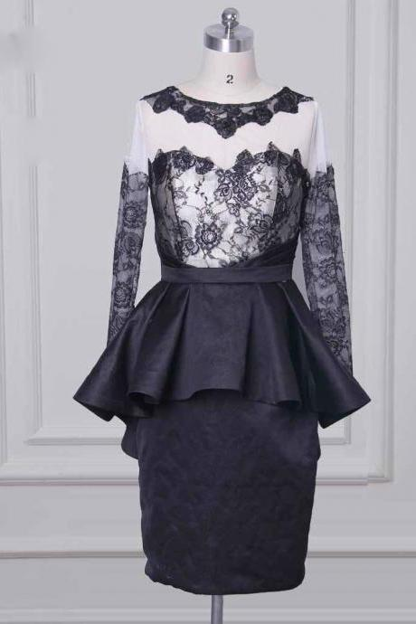Simple Black Lace Mother of the Bride Dresses 2017 Sexy Illusion
