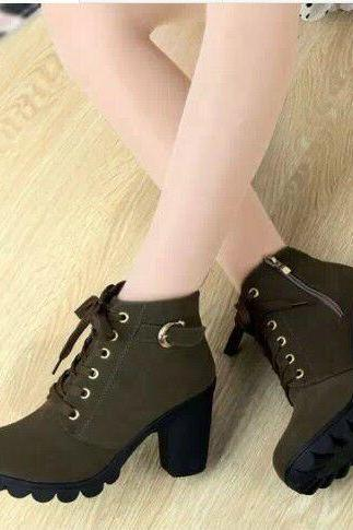 The new winter boots, single women in the spring and autumn autumn shoes short boots