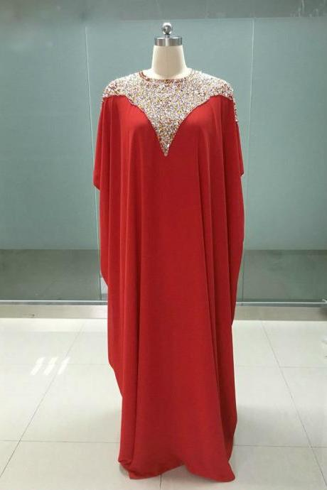 Cap Sleeves Floor Length Beading Formal Mother Of The Bride Dresses