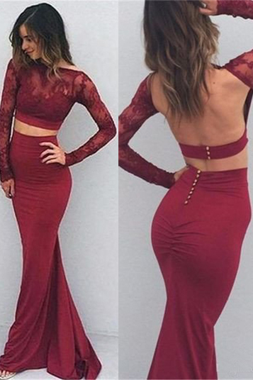 Mermaid O-Neck Prom Dresses,Long Prom Dresses,Cheap Prom Dresses