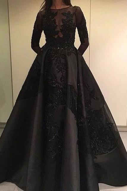 Prom Dress,Sexy Elegant Prom Dresses, New Arrival Long Sleeve Evening Dress,Ball Gown Evening Dress,Sexy Prom Dresses,Formal Gowns