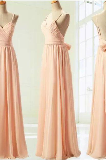 Custom Made A Line Sweetheart Neck Floor Length Backless Prom Dresses, Party Dresses