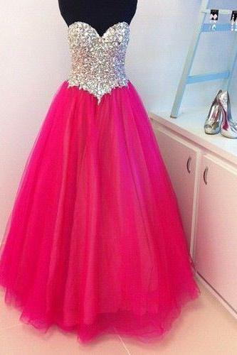 Custom Made A Line Sweetheart Long Prom Dresses, Long Evening Dresses, Long Formal Dresses