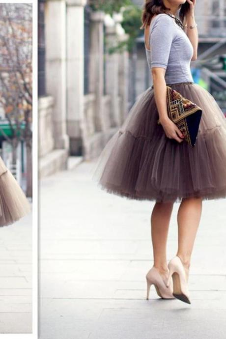 Fashion Skirt,Tulle Skirt,Charming Women Skirt,spring Autumn Skirt