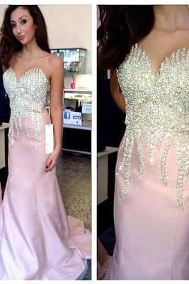 Charming Prom Dress,Mermaid Prom Dress, Beading Prom Dress,Sweetheart Evening Dress