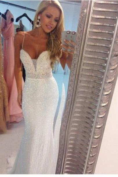 2017 Custom Made High Quality Prom Dress,Charming Prom Dress,Sweetheart Prom Dress,Beading Prom Dress,Mermaid Prom Dress