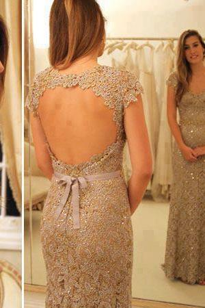 Backless Prom Dress,Mermaid Prom Dress,Lace Prom Dress,Fashion Prom Dress,Sexy Party Dress, New Style Evening Dress