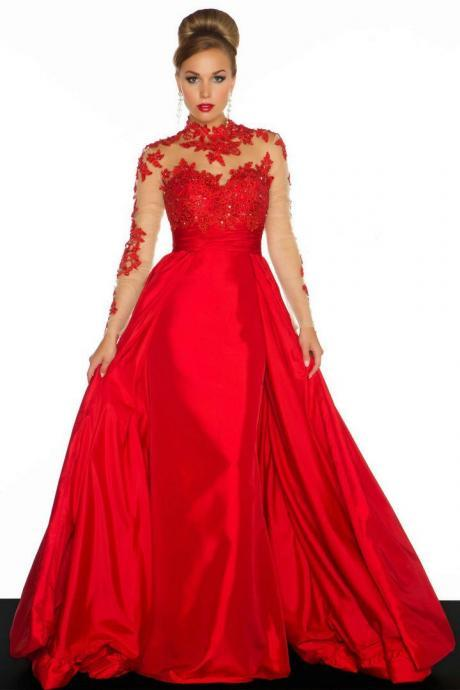 fashion appliques lace red evening dress foraml evening dress prom dress black evening dress
