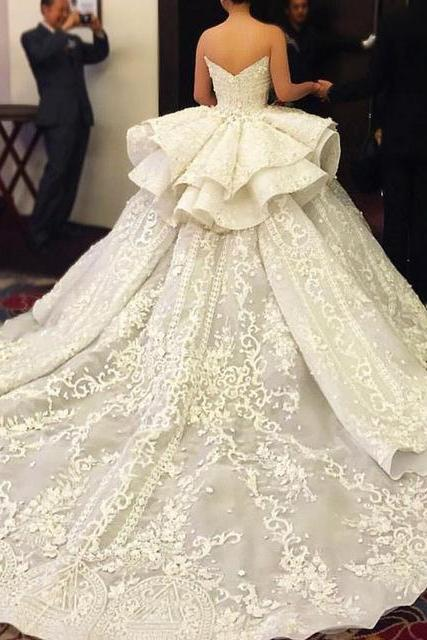 Wedding Dress, Lace-Up Wedding Dress, New Arrival Wedding Dress, Sweetheart Wedding Dress, Ball Gown Wedding Dress, Bowknot Wedding Dress, Tulle Wedding Dress, Sequined Wedding Dress, Princess Dress
