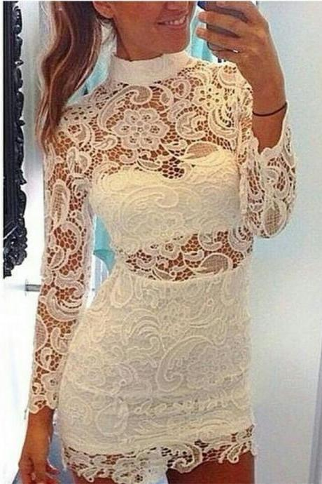 Long Sleeve Prom Dress,Pencil Prom Dress,Lace Prom Dress,Fashion Homecoming Dress,Sexy Party Dress, New Style Evening Dress