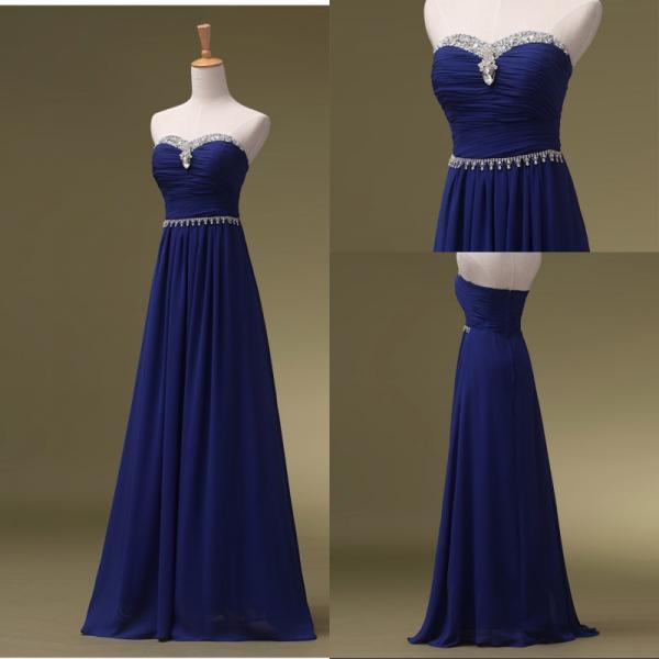 Cheap prom dresses 2017,Prom Dress-Royal Blue Prom Dresses, Long Bridesmaid Dresses, Long Evening Dresses, Strapless Evening Gowns, Formal Dress, Party Dresses