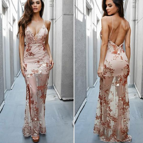 2017 New Arrival Sexy Braces Backless Tassels Long Dress
