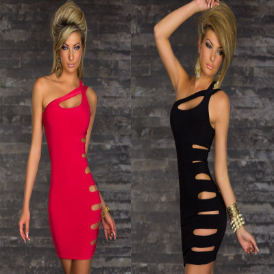 2015 Summer new sexy club style Couture slim package hip dress Strapless hollow