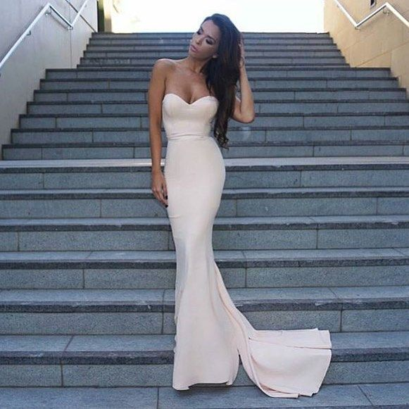 Mermaid Sweetheart Prom Dresses,Simple Evening Dresses,Occasion Dresses,Graduation Dresses