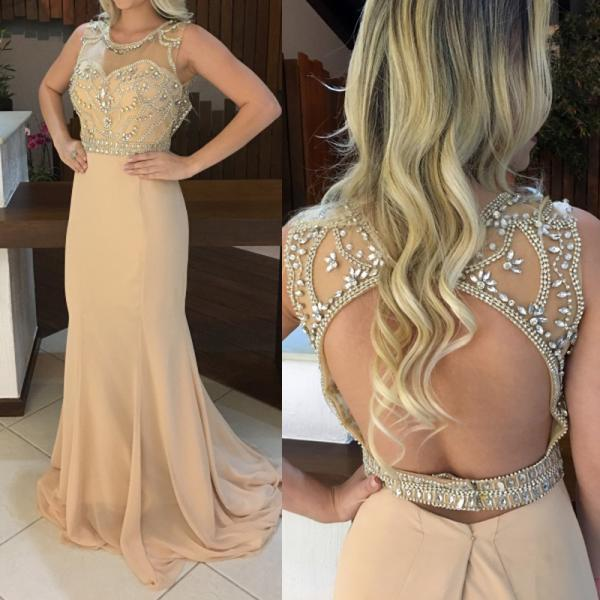 Prom Dresses,Evening Dress,Beautiful Long Prom Dress, Charming Prom Dress,Chiffon Prom Dress,Chiffon Prom Dress,Beading Evening Dress