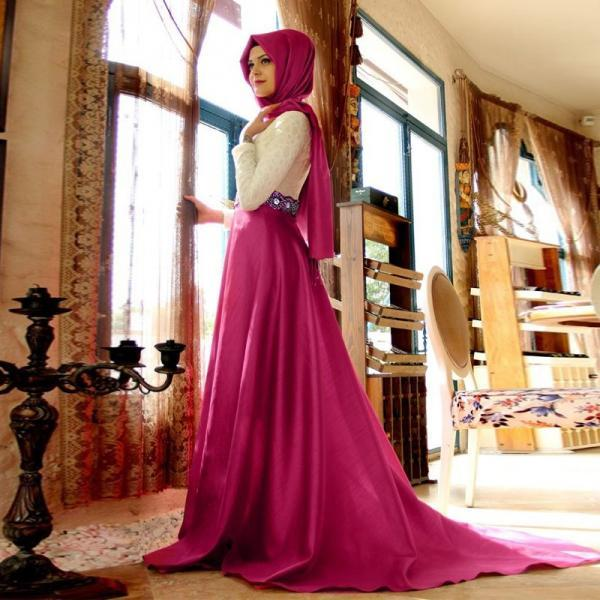 Vestido de Festa Muslim Evening Dress Hijab Long Pageant Gown Satin Long Sleeve Turkish Dubai Abayas Formal Dress robe de soiree